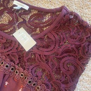 Maurices Lace Shoulder Top